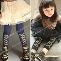 free shipping 2013 spring  the British style  female children's clothing baby children long pants Leggings p799 ok