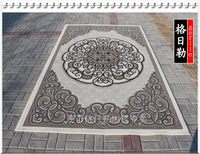 100% Pure wool grey flower pattern personality living room coffee table 200cm x 300cm carpet
