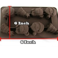 Free shipping for cake chocolate mold santa tree christmas father shape silicone cake tools new 01183