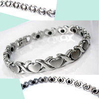 Japanese style heart radiation-resistant bracelet titanium germanium magnetic therapy bracelet gift