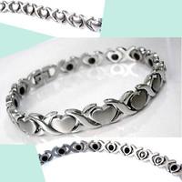 Japanese style heart radiation-resistant bracelet titanium germanium magnetic therapy bracelet gift