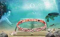 Rose gold bracelet female anti fatigue radiation-resistant magnetic therapy bracelet