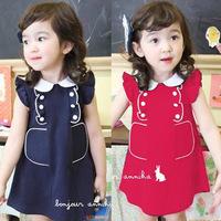 2012 female child summer hot-selling elegant one-piece dress gentlewomen princess ruffle vintage dress