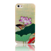 Wholesale/Free shipping/flower plastic case for iphone 5 5G/iphone 5 cover/shell/High quality