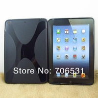 Wholesale 500Pcs/Lot, DHL Free Shipping For iPad Mini X Pattern TPU Case, Belt Design