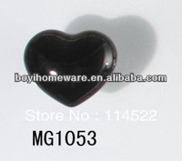 moulded popular heart shaped black ceramic knob handles cabinet pull kitchen cupboard knob kids drawer dresser knobs MG1053