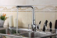 Contemporary Brass Kitchen Faucet - Chrome Finish/Kitchen Sink Faucet