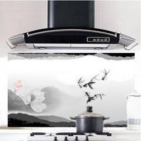 90*45 Oil Proof Aluminum Foil Sticker Kitchen Wall Decal Goldfish HQS-Y35268