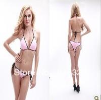 Fashion bikini swimwear female split big small sexy push up bikini