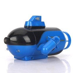 New Mini Blue Radio RC Remote Control Sub Submarine Boat Explorer LED Toy Kids Free Shipping & Wholesale(China (Mainland))