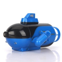 New Mini Blue Radio RC Remote Control Sub Submarine Boat Explorer LED Toy Kids  Free Shipping & Wholesale