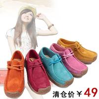 Women's shoes casual shoes cow muscle women's shoes outsole single shoes snail shoes female breathable flats flat