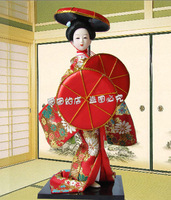 The preparation Oriental Broider Doll, Japanese Old style figurine Japanese doll statue The J5