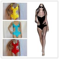 New Arrival HL Elastic Knitted Bandage Bikini White Swimsuits for Women Sexy Bikini