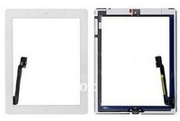 Free Shipping 100% New LCD Glass Touch Screen Digitizer With Home Button Assembly  For New iPad 3  White Color