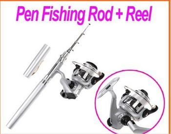 Mini Aluminum Pocket Pen Fishing Rod Pole Spinning Fishing Reel Freeshipping Dropshipping Wholesale