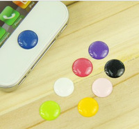 100pcs colorful elegant solid color home Key Button Sticker for ipad iPhone 3gs iphone 4 4S 5 itouch freeshipping