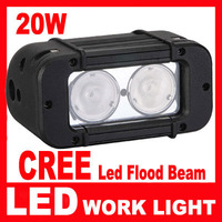 Free Shipping 2pcs/lot 5Inch 20W CREE LED WORK LIGHT BAR FLOOD 4WD BOAT UTE DRIVING WORK LIGHTS