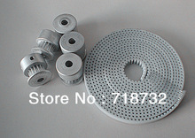 free shipping 6pcs T2.5 timing pulley and 10m T2.5 open timing belt with 10mm belt width(China (Mainland))