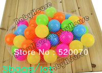150PCS/bag New  5.5cm Soft Plastic Pit Ball Bright Color Play Tunnel Kids Toy free shipping 9955