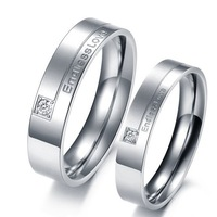 Endless Love MAatching Wedding Rings For Men And Women Titanium Steel Fashion Couple Rings His And Her Love