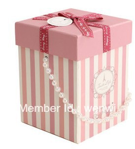 Pink box candy box with pearl handle(China (Mainland))