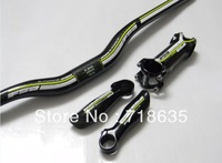 NEW Green  carbon fibre bike Bicycle MTB riser Handlebar Bar End stem