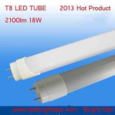 6500k 7000k 18W LED T8 Tube Light AC85-265V Aluminum Round 18W high power LED Tube T8 1200mm Epistar SMD2835(China (Mainland))