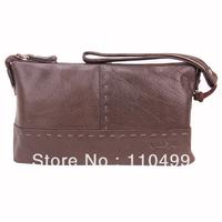 Branded leisure clutch bag khaki leather clutch bag