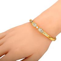 Free shipping new fashion regulary outline stainless steel women bracelet Plating 18K gold Hot sale