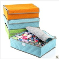 Min Order $15(mixed order) bamboo multicellular multi-colored covered bra underwear storage box of much money 3891