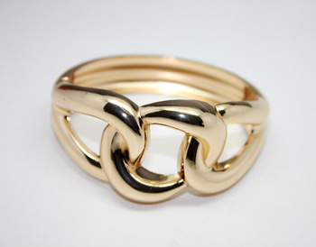 Fashion 18K Gold&Silver Plated Infinity Bracelet Linked Hinge Cuff Bangle For Women Free Shipping (B2-036)