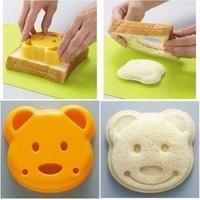 Min Order $15(mixed order) sandwich mould bear bread mould diy mould cartoon bread mold breakfast toast  2617