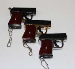 High artificial pistol lighter copper metal toy gun type(China (Mainland))