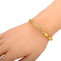 2013 Unique design wave shape plating gold stainless steel women bracelet  Free shipping