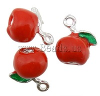 FREE Shipping Red Apple Shape Pendants and Charms