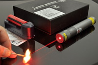 250mW RED Laser Pointer pen (650nm) with battery charger, Manual + Free shipping