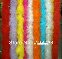 "10pcs  200cm(79"")  Chicken Feather Strip Wedding Marabou Feather Boa #10 Color"