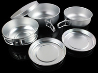 Lightweight outdoor cookware superfluity outdoor plate set aluminum alloy camping dinnerware set out tableware