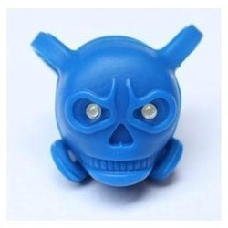 Bicycle safety lamp bicycle skull lights frog light skull silica gel rear light heterochrosis ipl(China (Mainland))