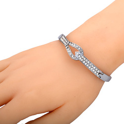 Romatic ! Charming jewerly plating silver with crystal for her Stainless steel jewerly with high quality Free shipping(China (Mainland))