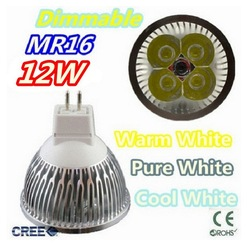 Super low price time buying 1pcs/lot Dimmable LED Lamp MR16 4X3W 12W LED Light Bulbs High Power LED Spotlight(China (Mainland))