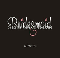 DHL Free Shipping 40pcs/Lot Bridesmaid rhinestone iron on transfers design