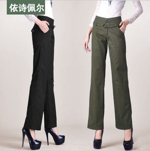 2013 spring pants wide leg pants trousers female fashion casual pants facings pants boot cut(China (Mainland))