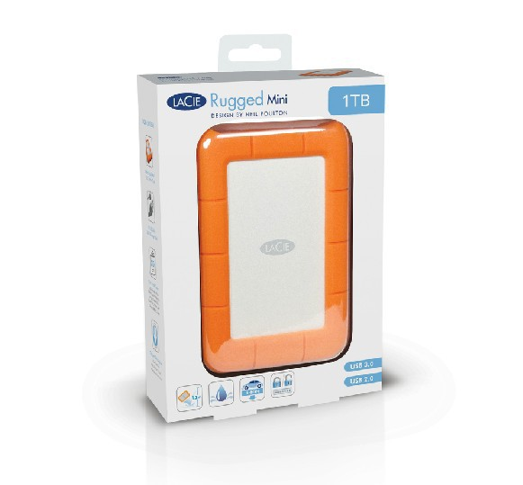 Lacie Rugged mini design 1TB mobile hard drive external hard disk HDD 2.5' USB3.0 shockproof 3 years warranty free shipping