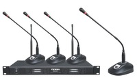 (Brand New) 4Channel VHF Wireless Microphone System With Lapel Headset Mics VX-800VHF230 ~ 280MHz