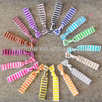 Free shipping wholesale 200pcs mixed 20colors Chevron Print FOE Hair Tie Elastic bracelet accessories for hair ponytail holder