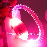 Free shipping Led luminous pet /dog chain tag collar 7 colors free size 10pcs/lot