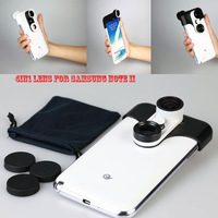 30 pcs/lot DHL Free shipping,2013 Newest Fisheye+Wide-Angle+Macro+Front Fisheye 4 in 1 lens for Samsung GALAXY Note2,retail box