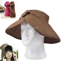 Free Shipping wemen Hat Summer Women`s Hat Prevent Sunburn Grass Hat For Outdoor Brown(China (Mainland))